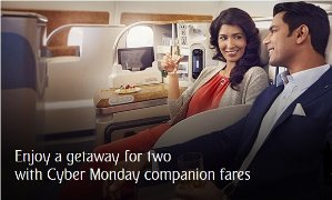 From $899, Two Round-trip TicketsCyber Monday Sale @ Emirates