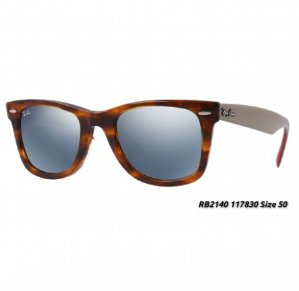 $75Rayban RB2140 Original Wayfarer Flash Lenses Unisex Sunglasses