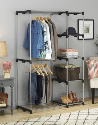 $36.99 Whitmor Double Rod Freestanding Closet With Steel And Resin Frame    Dealmoon