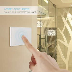 $5 Intey Touch Screen Switch Crystal Glass Panel Wall Light Touch Switch