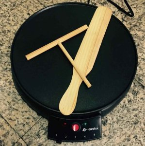 $24 Eurolux Original French Style 12 Inch Electric Griddle and Crepe Maker