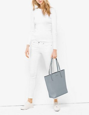 $156 MICHAEL MICHAEL KORS  Emry Large Leather Tote