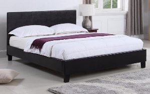 $112Malawi Classic Bonded Leather Bed, Twin Size
