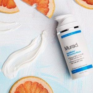 满$100立减$25+2个小样+包邮Murad Skin Care 全场护肤品黑色星期五促销