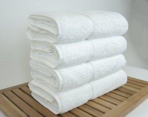 $43.99(原价$85.29)史低价!Luxury Hotel & Spa 100%土耳其棉浴巾4件套,白色