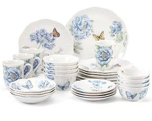 $125Lenox Butterfly Meadow 28-piece Dinnerware Set