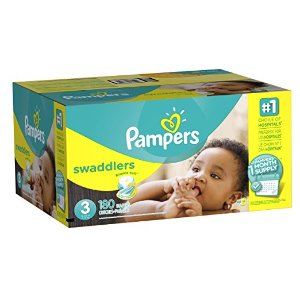 $15.13 Pampers Swaddlers Diapers Size 3, 180 Count (One Month Supply)
