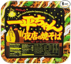 $12 Myojo Ippeichan Yakisoba Japanese Style Instant Noodles, 4.77-Ounce Tubs (Pack of 6)