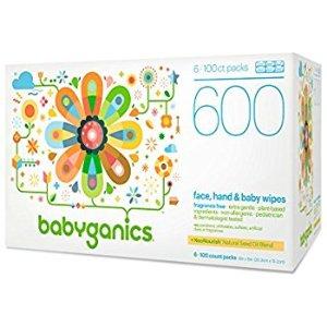 $11.37Babyganics 无香型婴儿湿巾 600片