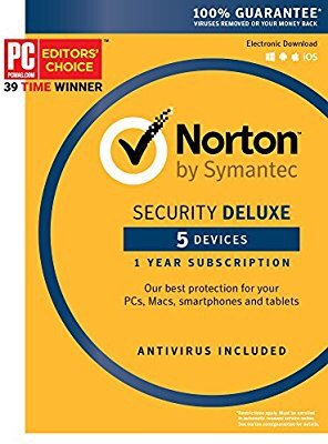 $19Norton Security Deluxe - 5 Device [Key Card]