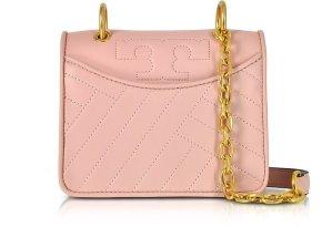 $158TORY BURCH Alexa Dark Pink Quartz Leather Mini Shoulder Bag