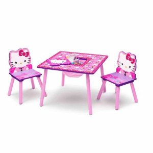$27Hello Kitty Table and Chair Set with Storage