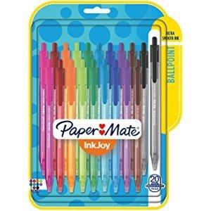 $5.5史低价:Paper Mate 10色中号圆珠笔 24支