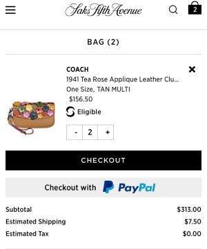 $206.5Coach山茶花手拿包