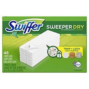 $8 超值好价Swiffer Sweeper  拖把一次性替换干拖布 带薰衣草舒适香味 48片