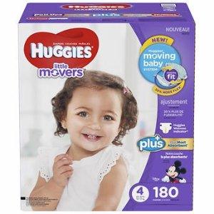 每片低至$0.15Huggies 好奇N-6号尿布促销