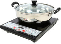 $39.99 Tayama Digital Black Induction Cooktop 1500 Watts SM-16A3 With Cooking Pot