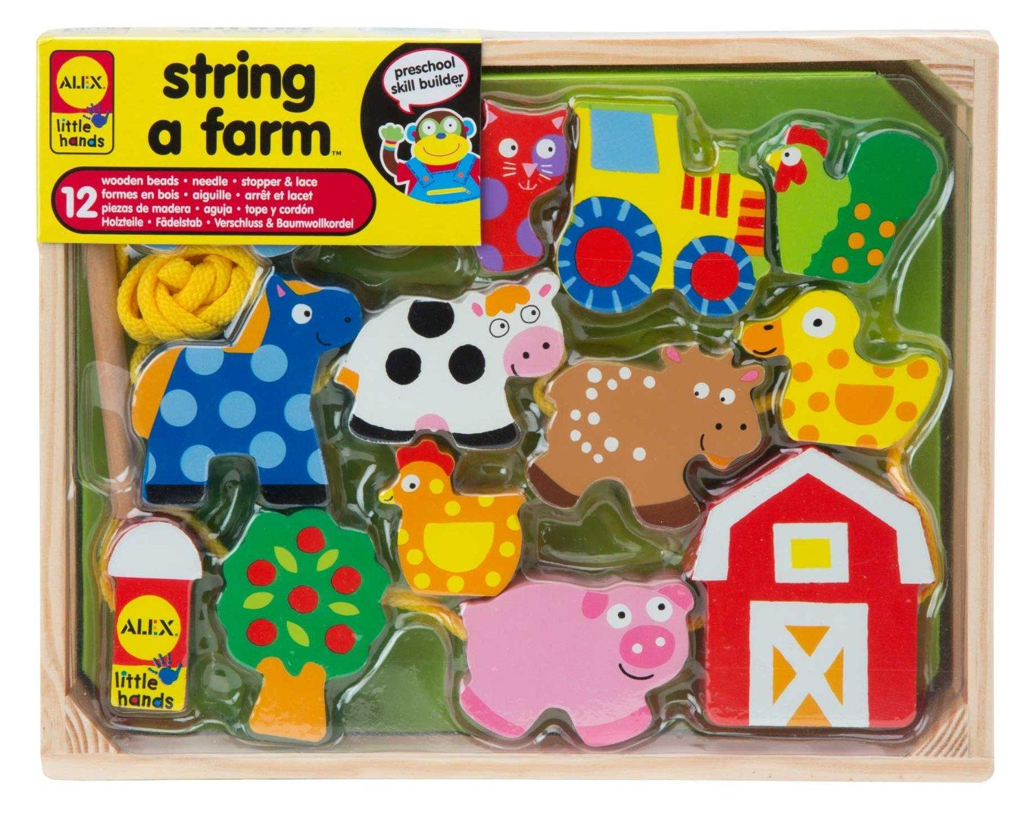 $9 ALEX Toys Little Hands String A Farm