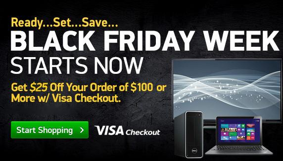 $25 off your order of $100+with Visa Checkout @ TigerDirect.com