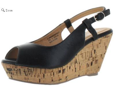 $19Very Volatile Lady Like Women's Cork Wedge Sandals Shoes
