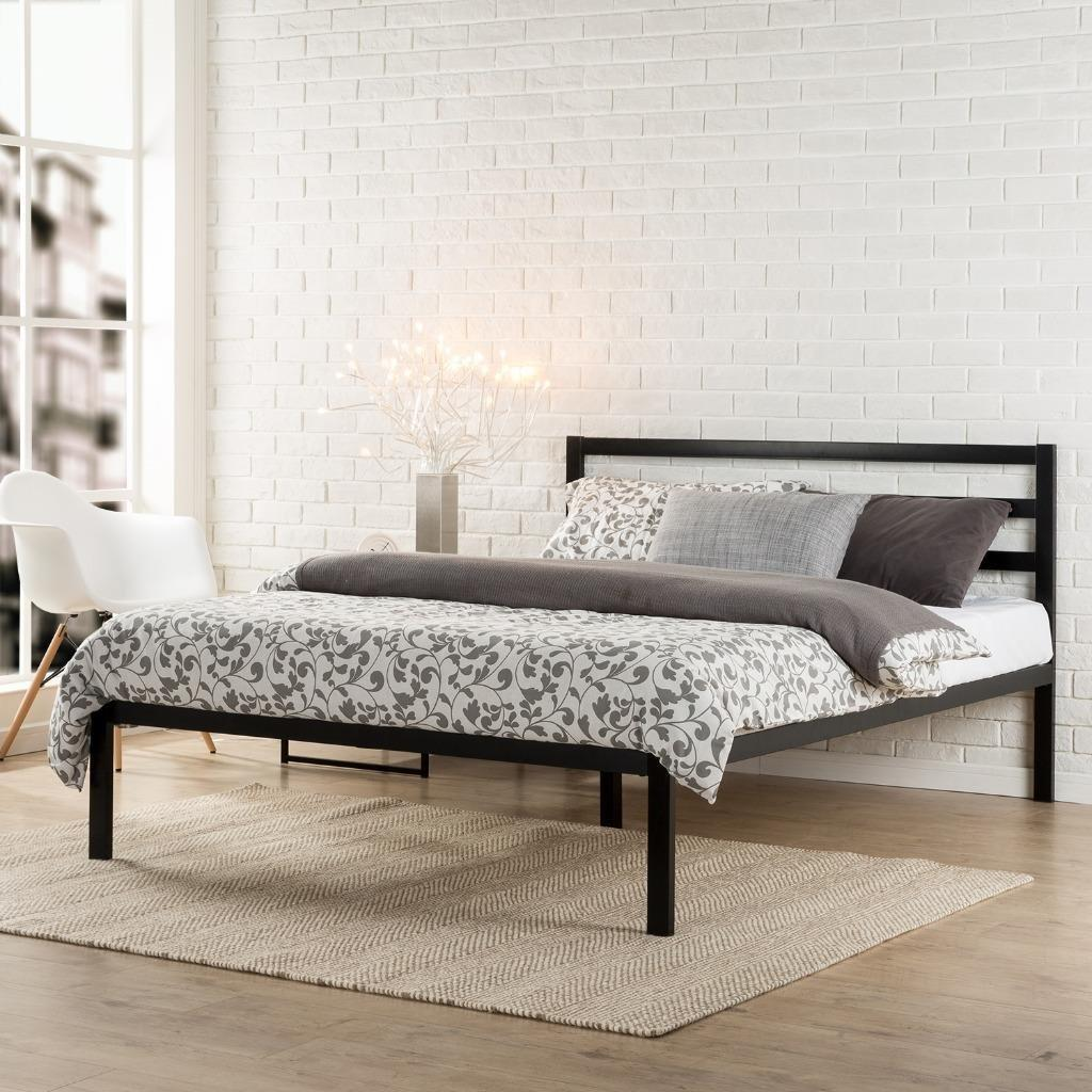$101.14 Zinus Modern Studio Platform 1500H Metal Bed Frame/Mattress Foundation with Headboard, Queen