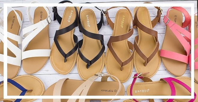 $9.99Bamboo Color Strap Sandals