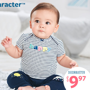 $11.97 5-Pack BodysuitsSemi-annual Big Baby Sale @ Carter's