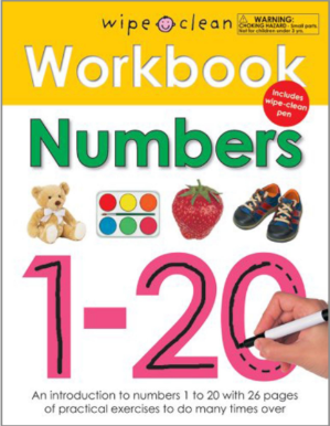 $2Wipe Clean Workbook Numbers 1-20