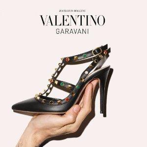 低至3折 入手铆钉鞋折扣升级:Valentino 美鞋美包专场 孤码上新