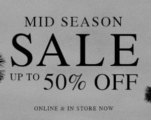 Up to 50% OffMid Season Sale @ Allsaints US
