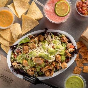 BOGO FreeBurrito, Bowl, Salad or Order of Tacos Sale @ Chipotle