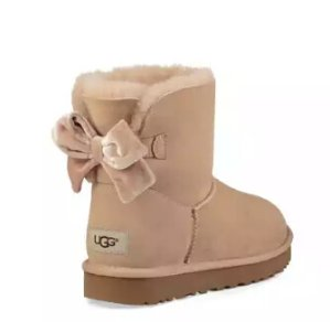 $89 UGG Mini Bailey Bow II Velvet Ribbon