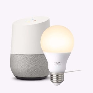 $159Google Home and Philips Hue White Starter Kit Package