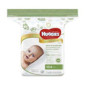 $6.99Huggies Natural Care 温和配方无香型婴儿湿巾补充装 184片