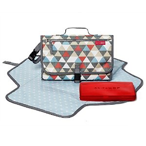 $15Skip Hop Baby Pronto Portable Changing Station with Cushioned Changing Mat and Wipes Case, 3 Pockets, Chevron