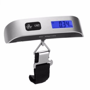 $6Dr.meter 110lb/50kg Electronic Balance Digital Postal Luggage Hanging Scale