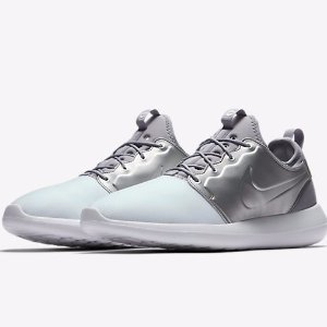 $43Nike Roshe Two Men's Shoes Sale (White Silver)