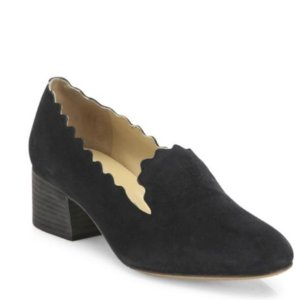 From $359.99(Org. $715)Chloé Lauren Scalloped Suede Loafers @ Saks Off 5th