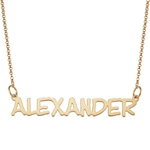 Dealmoon exclusive! 60% off14K Gold Over Sterling Script Name Necklace + Free Shipping @ LimogesJewelry.com