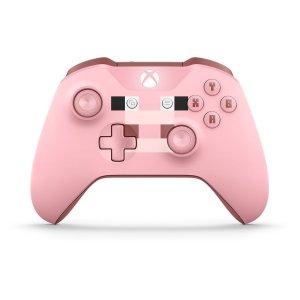 $64.98女生专属: Xbox One S 超萌无线手柄 我的世界粉色小猪