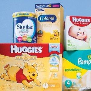 满额送礼卡Target 婴儿尿布、奶粉促销