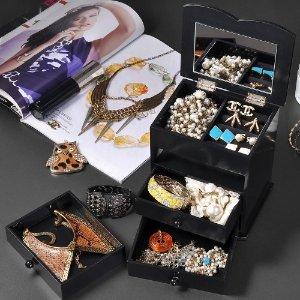 $16A+ Yescom Jewelry Box Organizer Storage Case