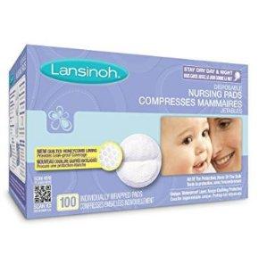 哺乳期妈妈必备~$12.32Lansinoh Disp. 一次性防溢乳垫,100片