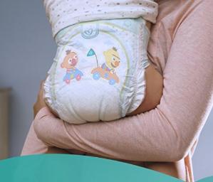 $31.8(原价$40.50)帮宝适Pampers Baby Dry婴儿纸尿裤超大包装(1-6号)