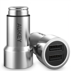$5AUKEY Halo Car Charger with Dual Port