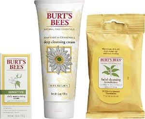 $5.68Burt's Bees 基础护肤三件套;清洁湿巾+深层清洁乳+敏感肌爽肤乳