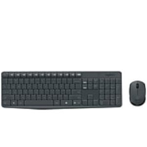 $12Logitech MK235 USB Wireless Optical Keyboard and Mouse Set
