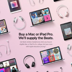 Get wireless Beats headphone when you buy an eligible Mac, iPhone or iPad for college. Save on a Mac or iPad with Apple education pricing