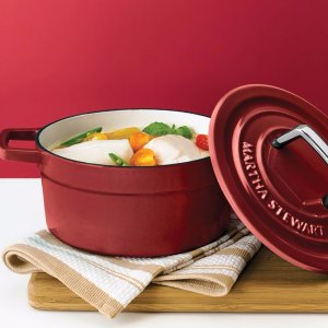 $49Martha Stewart Collection Collector's Enameled Cast Iron 6 Qt. Round Dutch Oven
