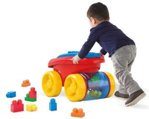 $14.99(原价$29.99)Mega Bloks大颗粒建筑玩具和收纳小推车套装 两色可选